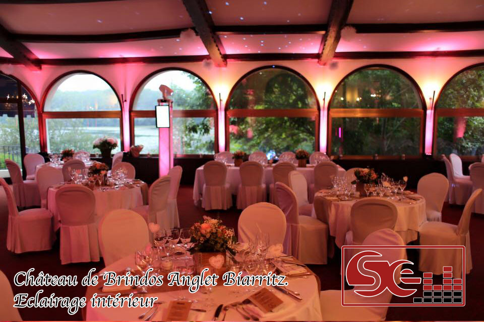 decoration mise en lumiere chateau de Brindos biarritz anglet mariage dj pays basque sud evenements