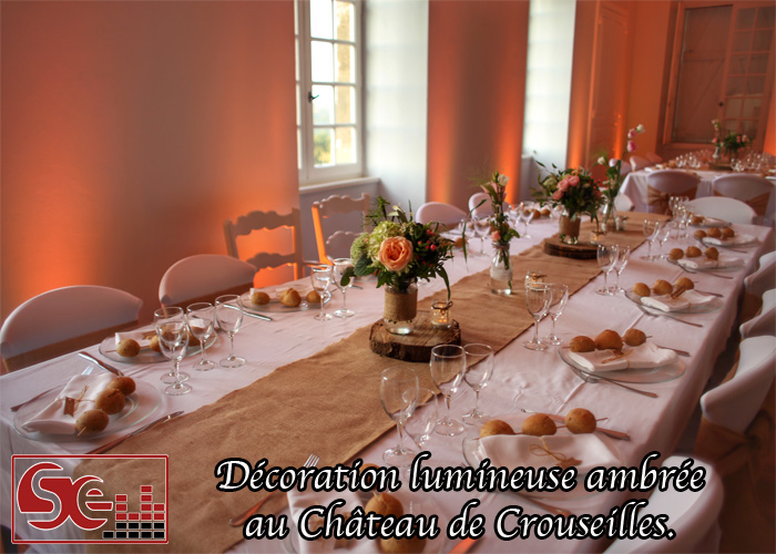 table d honneur decoration florale mise en valeur decoration lumineuse ambre ambree orange dj djette sud evenements sonorisation animation mariage pau bearn