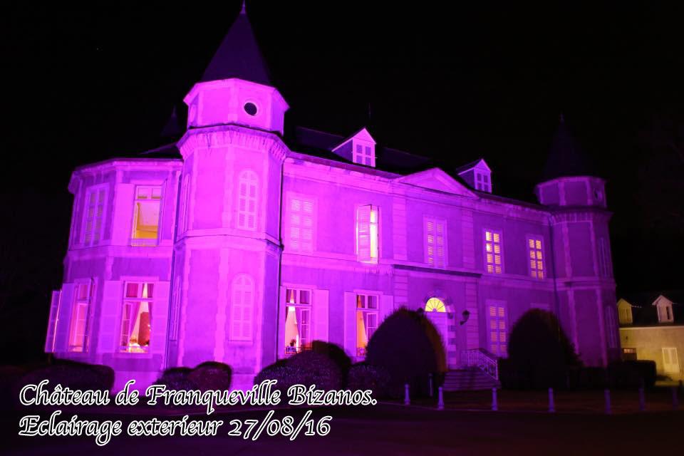 decoration lumineuse exterieure chateau de franqueville pau bizanos mariage