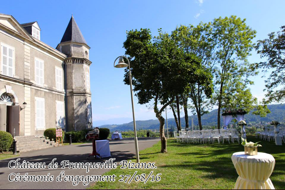 ceremonie engagement laique chateau de franqueville bizanos pau mariage dj 64 sud evenements