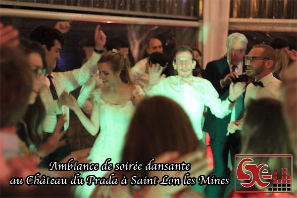 maries mariage chateau du prada piste de danse ambiance musciale ambiance dansante chateau du prada dj djette sud evenements sonorisation mariage wedding pays basque landes