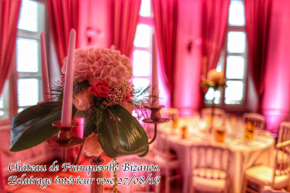 decoration fleur lumiere rotonde chateau de franqueville bizaos mariage pau dj sud evenements