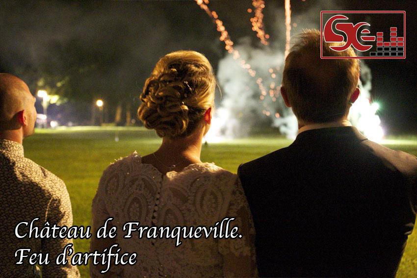 feu d artifice chateau de franqueville dj mariage bizanos