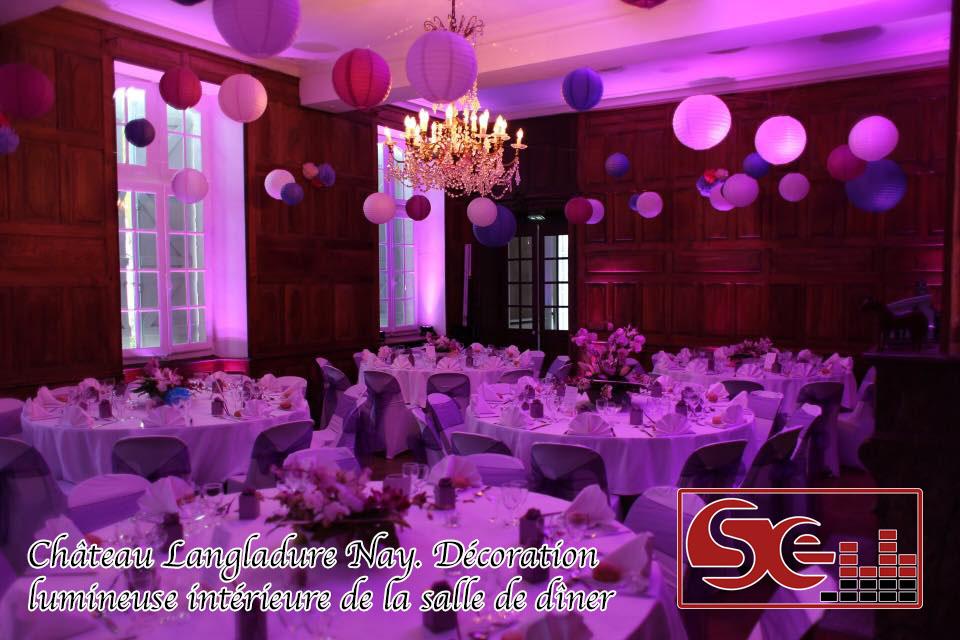 decoration lumineuse chateau langladure nay dj mariage sud evenements