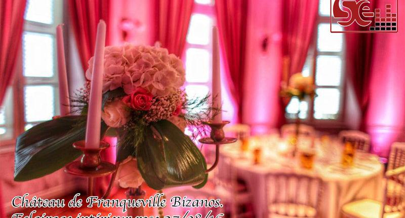 chateau de franqueville pau decoration rose ambiance romantique mariage