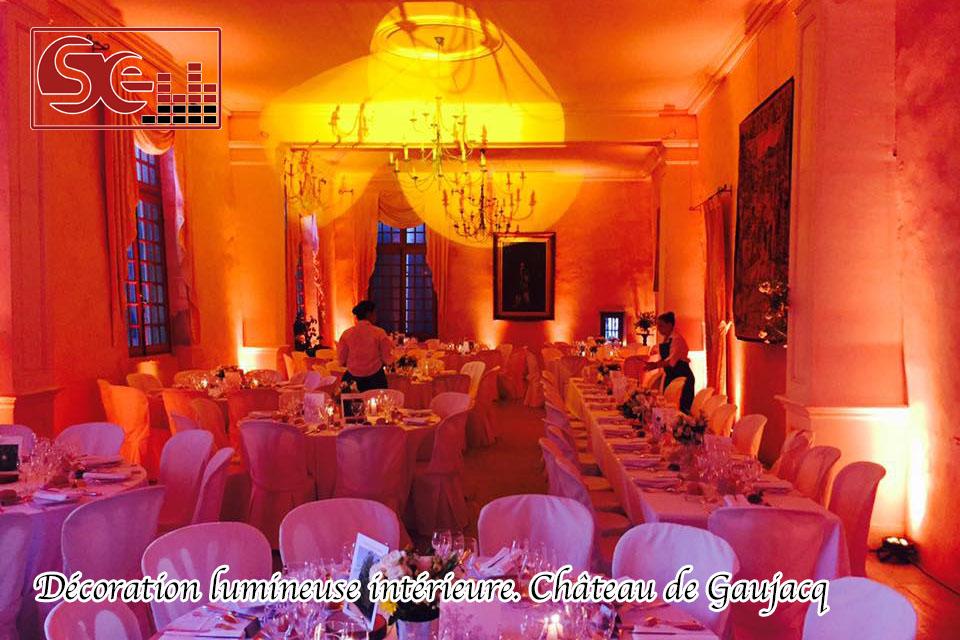 decoration interieure chateau de gaujacq mariage dj sud evenements sono