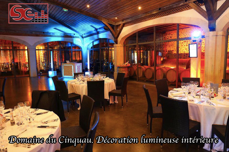 Domaine cinquau cincau decoration lumineuse interieure artiguelouve