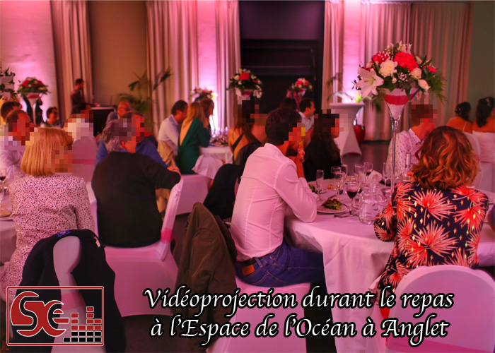 sud evenements sonorisation dj djette animation wedding mariage espace de l'ocean anglet pays basque bayonne bearn pau sud landes videoprojection decoration lumineuse rose diner