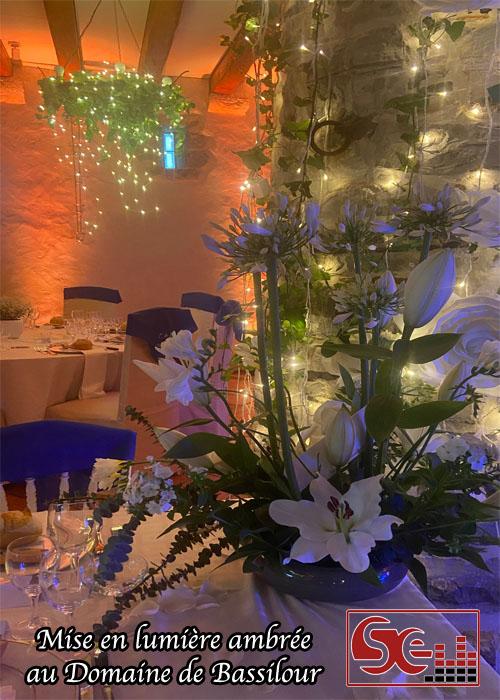 mise en lumiere decoration lumineuse domaine de bassilour pays basque dj djette animation musique mariage sud evenements sonorisation