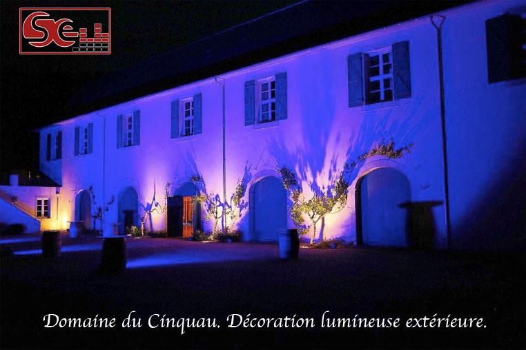 Domaine cinquau cincau decoration lumineuse exterieure artiguelouve
