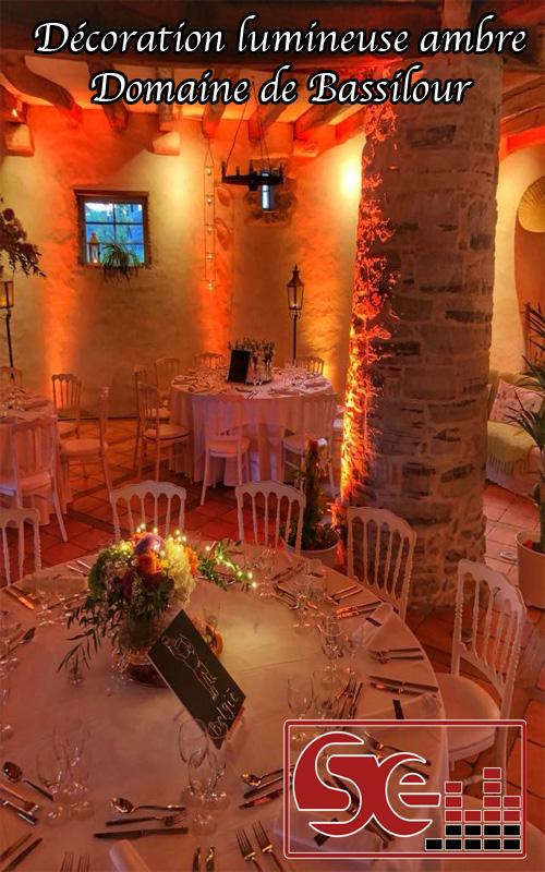 decoration lumineuse ambre domaine de bassilour bidart biarritz cote basque pays basque mariage sud evenements sonorisation dj animation animateur mariages ambiance musique lieu de reception
