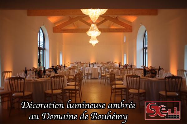 decoration lumineuse ambree zone de diner domaine de bouhemy lieu de reception mariage sud landes solferino dj sud evenements animation djette aquiatine pays pasque