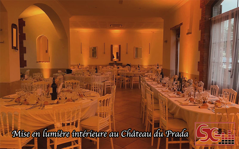 lumieur chaleureuse decoration chateau du prada table mariage dax landes sud evenements sonorisation dj