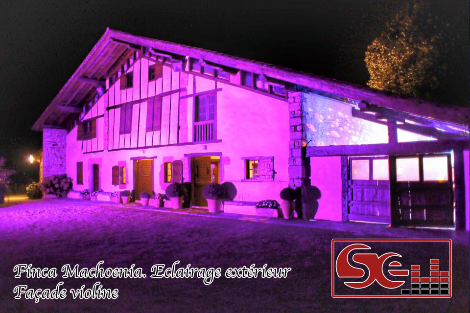 decoration ferme machoenia exterieur mise en lumiere dj mariage pays basque sud evenements sono