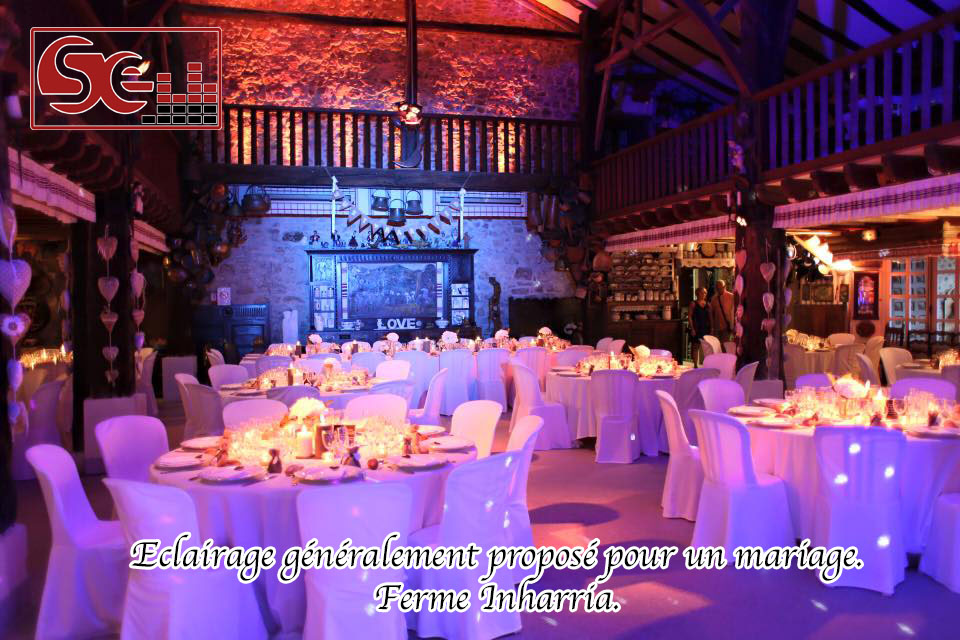 decoration salle ferme inharria st pee dj mariage pays basque sud evenements sono