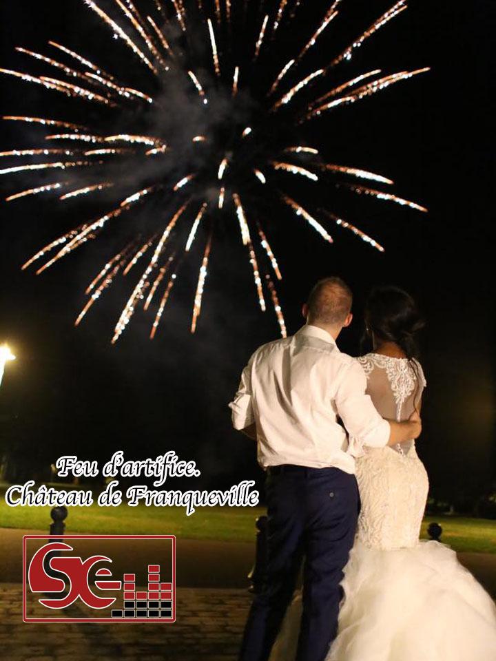 feu artifice chateau de franqueville dj pau mariage sud evenements sono