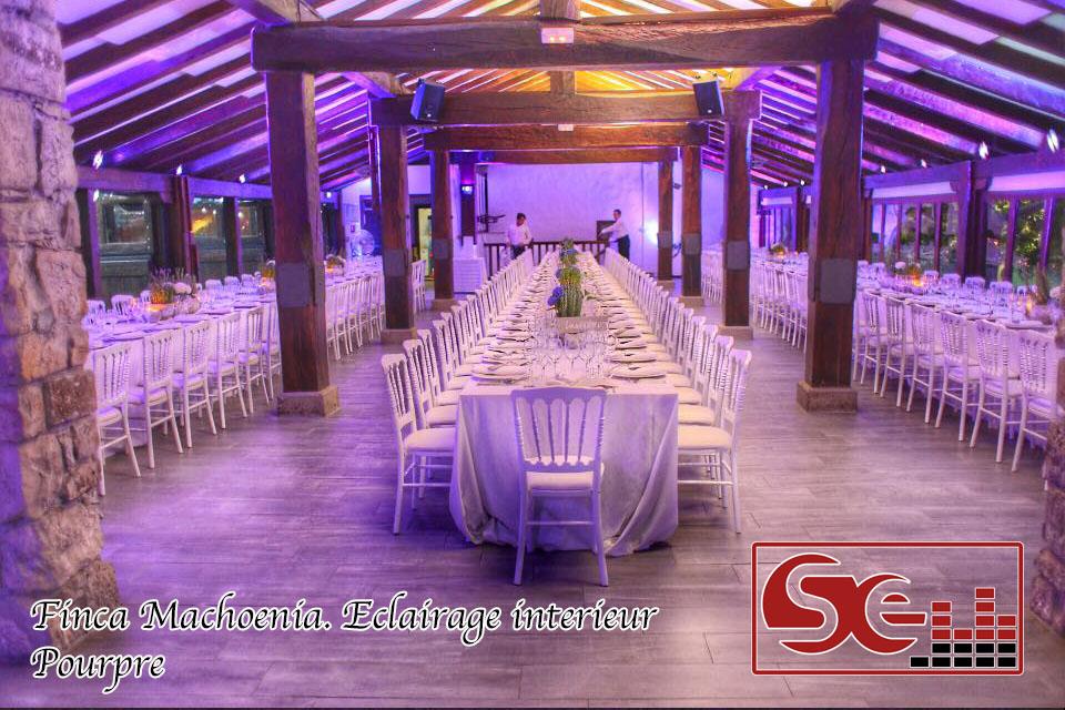 decoration lumineuse salle diner machoenia dj mariage pays basque sud evenements sonorisation