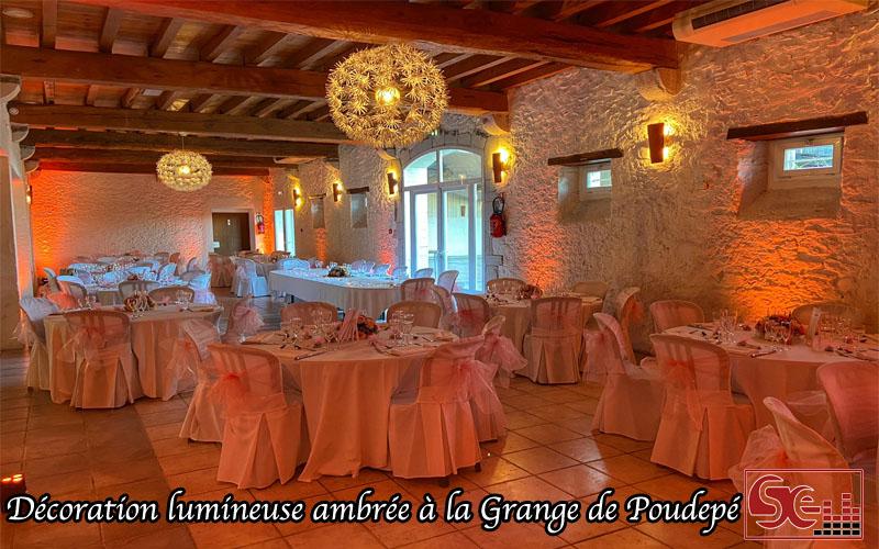 mise en lumiere decoration mariage chaleureux dj animation mariage sud evenements sonorisation pays basque bearn landes grange de poudepe saubusse