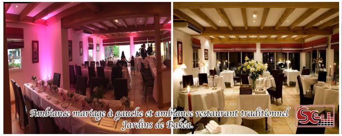 différence entre une ambiance restaurant et mariage