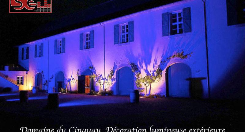 facade domaine du cinquau mise en lumiere pau dj animation mariage