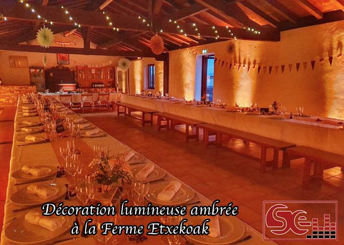 mise en lumiere bergerie ferme basque etxekoak atypique domaine de reception pays basque dj djette sud evenements sonorisation mariage