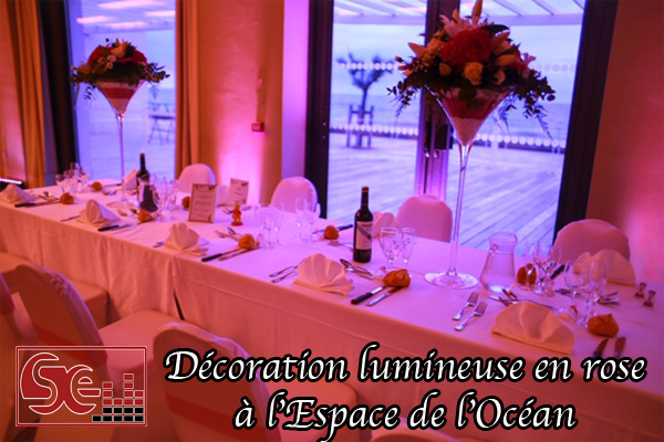 decoration lumineuse espace de l ocean anglet sud evenements sonorisation dj djette mariage pays basque wedding decoration lumineuse mise en lumieres rose ambiance domaine de reception