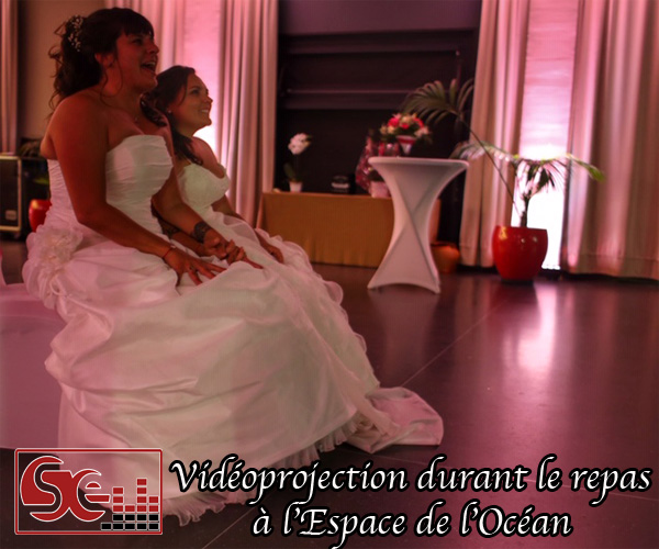 mariees mariage espace de l ocean sud evenements sonorisation mise en lumieres rose decoration lumineuse animations dj djette pays basque wedding bayonne pau bearn sud landes domaine de reception