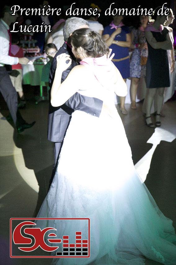 ouverture du bal domaine de lucain, premiere danse avec le papa mariage