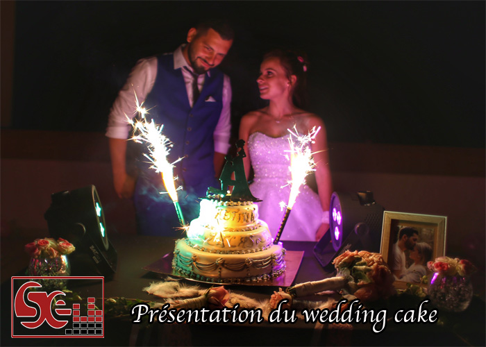wedding cake musique lumiere moment dynamique ambiance dj djette maries pieces montee sud evenements sonorisation landes pays basque bearn
